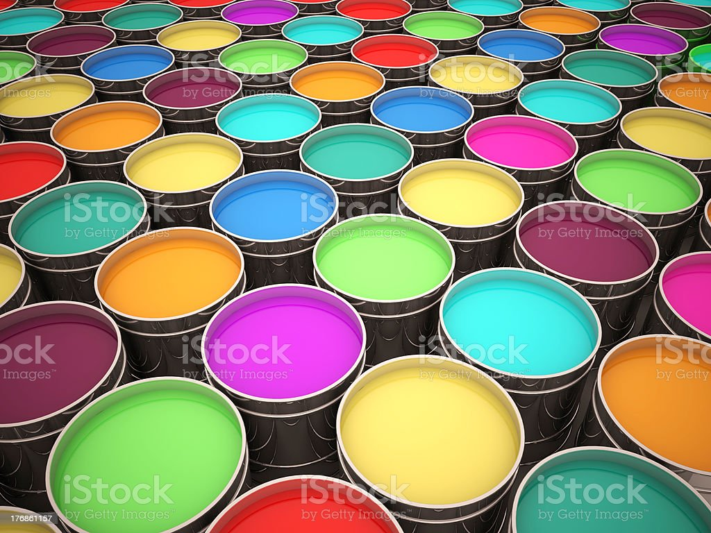 colorful paint royalty-free stock photo