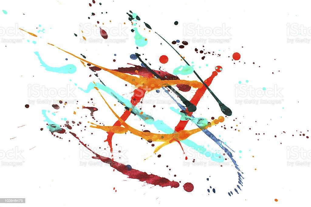 Colorful paint splash royalty-free stock photo