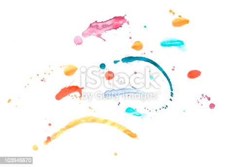 172646637 istock photo Colorful paint splash 103946670
