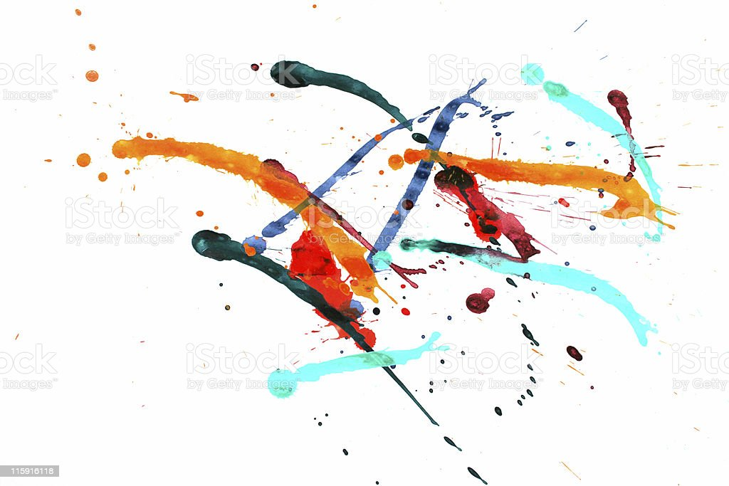 Colorful paint splash stock photo