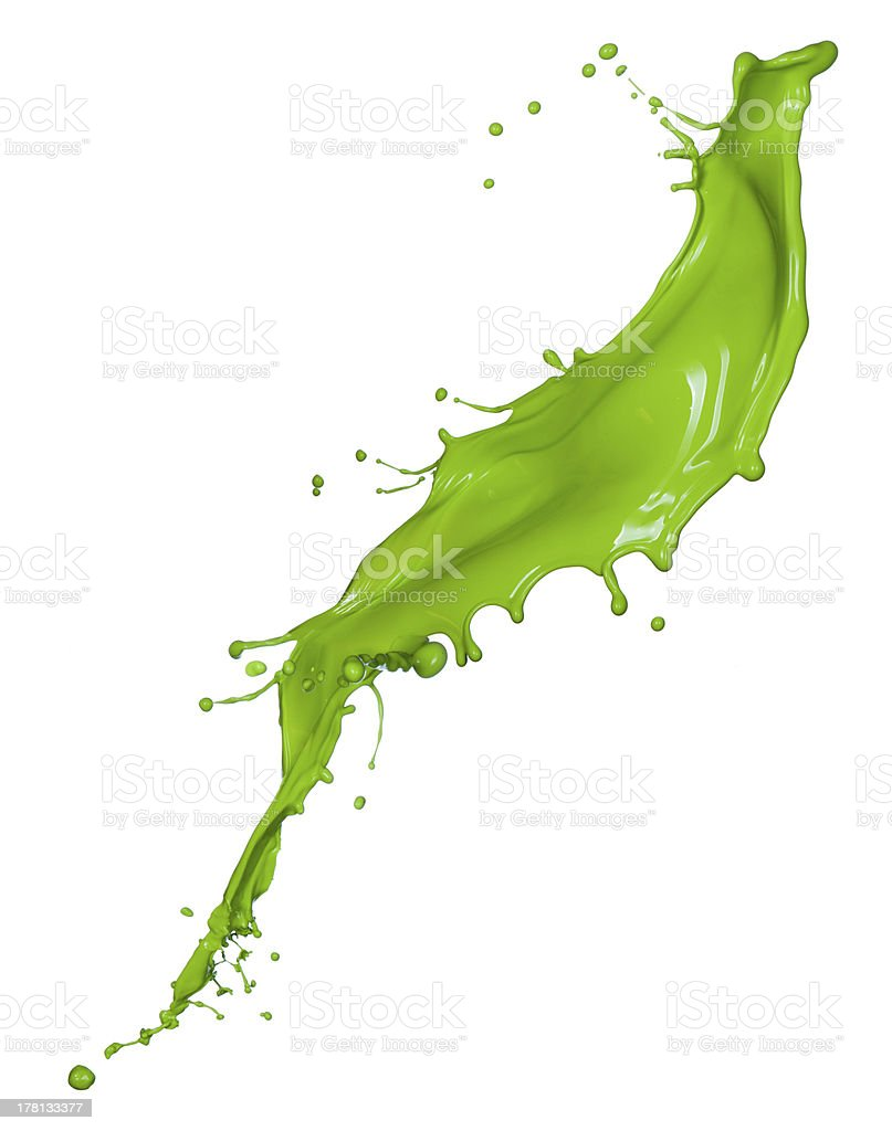 Colorful paint splashing stock photo