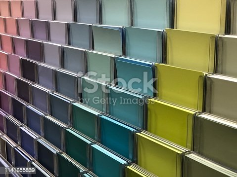 532107582 istock photo Colorful paint swatch cards 1141655839