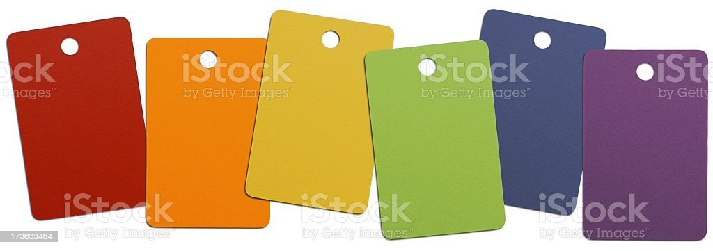Colorful Paint Swatches royalty-free stock photo
