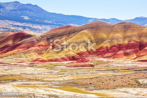 John Day Fossil Beds National Monument. Painted Hills, Oregon.