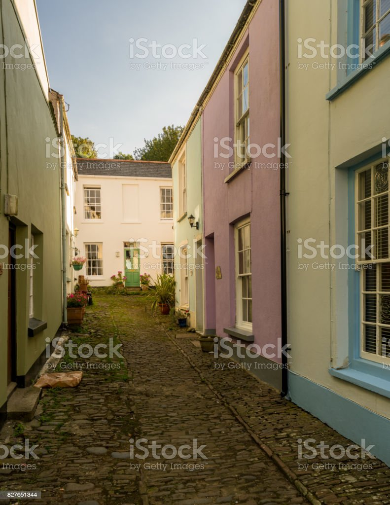 Colorful painted houses in Appledore, Devon stock photo