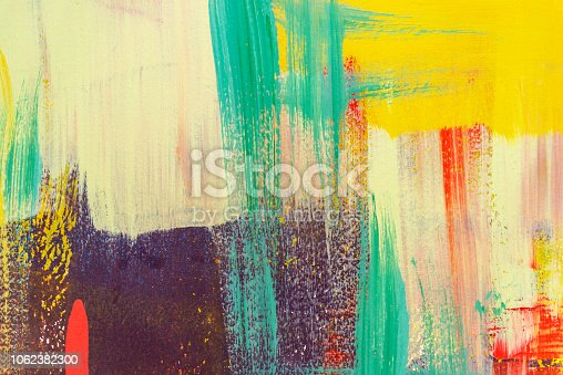 istock Colorful painted on concrete wall. Abstract background. Retro and vintage backdrop. 1062382300