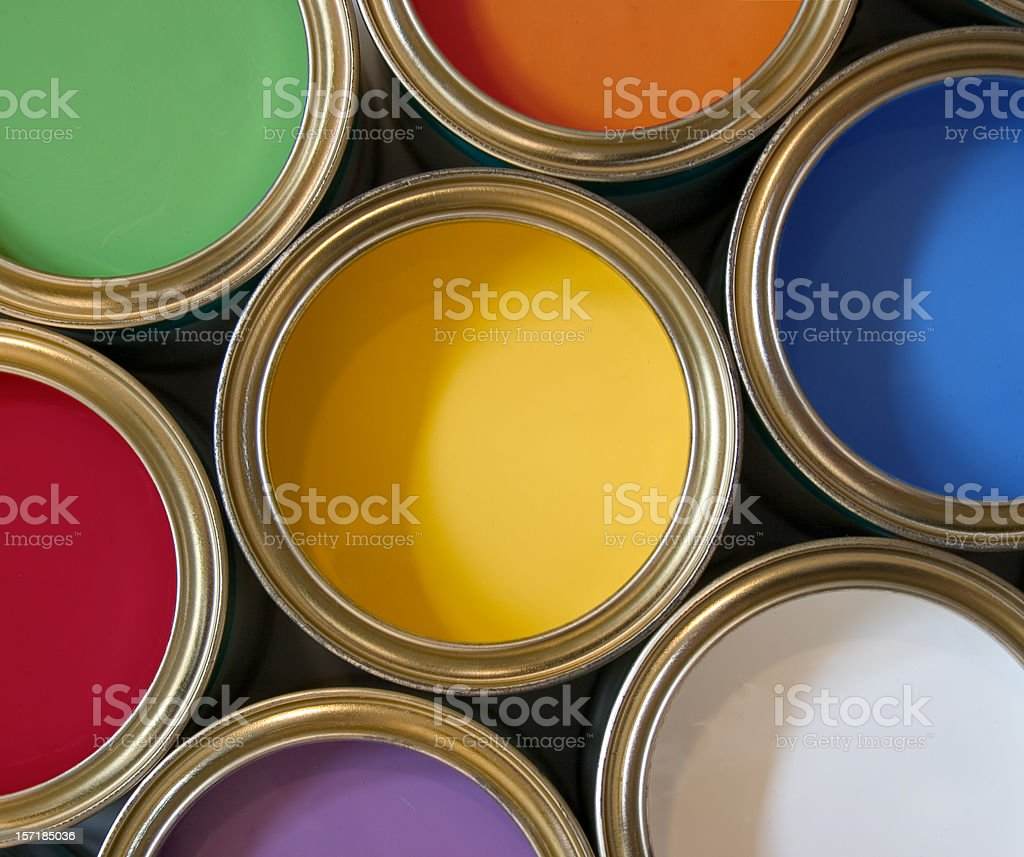 Colorful Paints royalty-free stock photo
