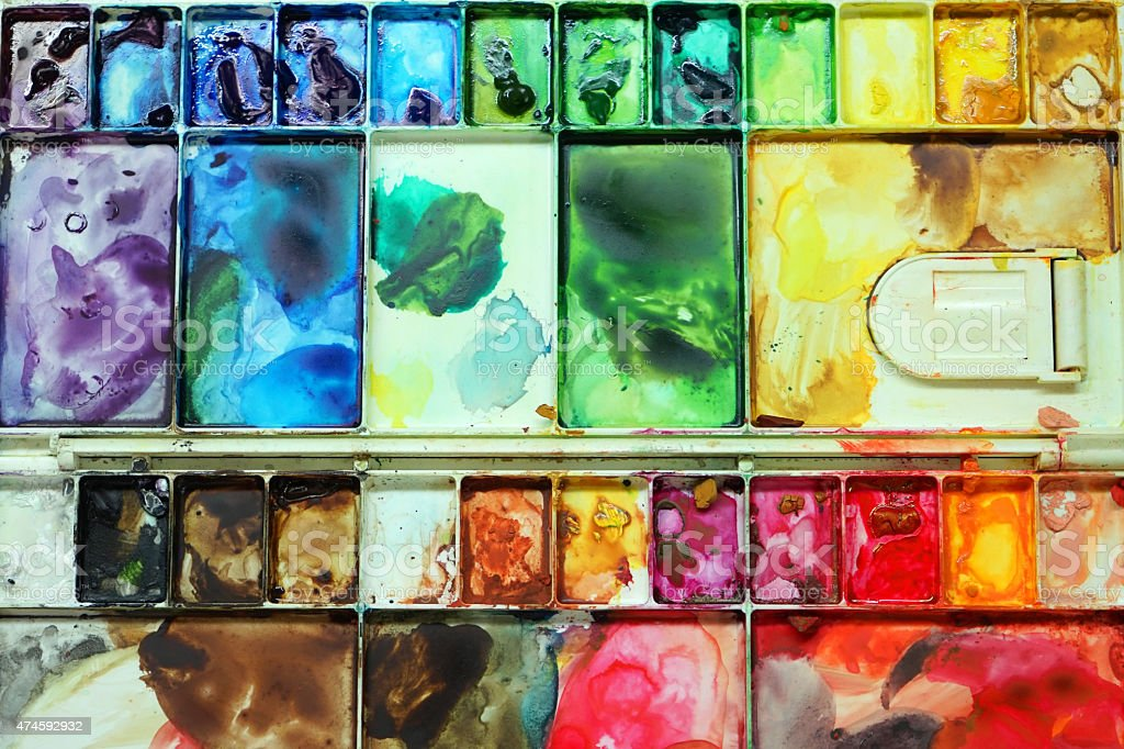 Colorful Palette stock photo