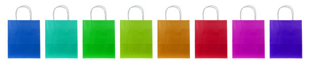 colorful paper bags stock photo