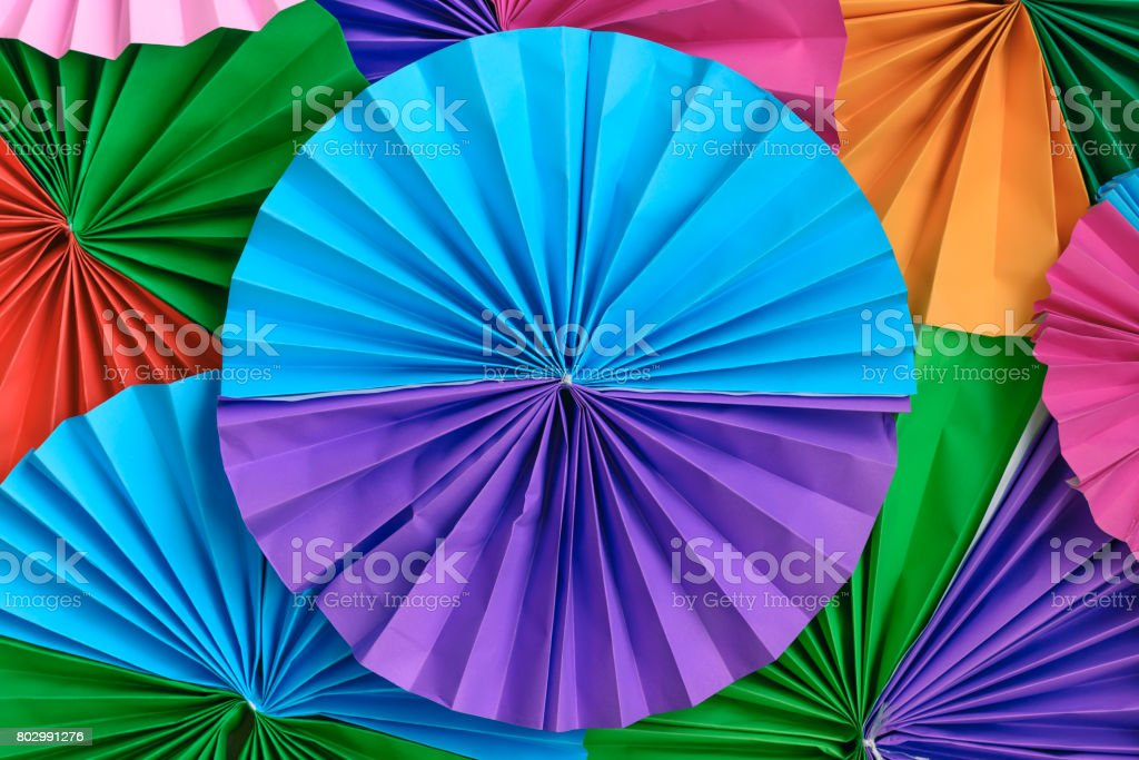 Colorful paper folding abstract pattern for background. stock photo