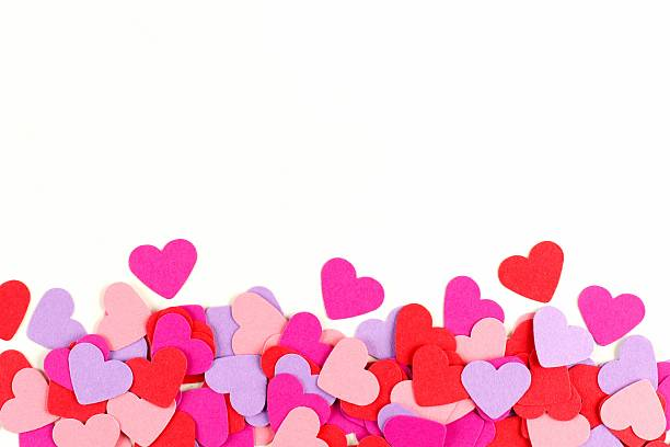 royalty free colorful paper hearts border pictures images and stock