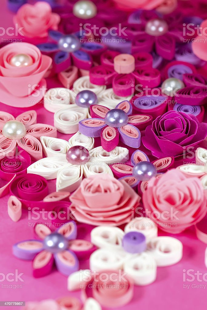Colorful Paper Quilling Flowers Stock Photo More Pictures Of Art