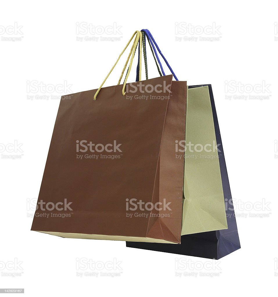Colorful paper shopping bags royalty-free stock photo
