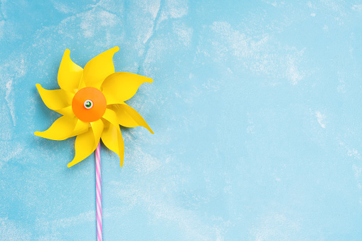 istock Colorful paper windmill toys 843170032