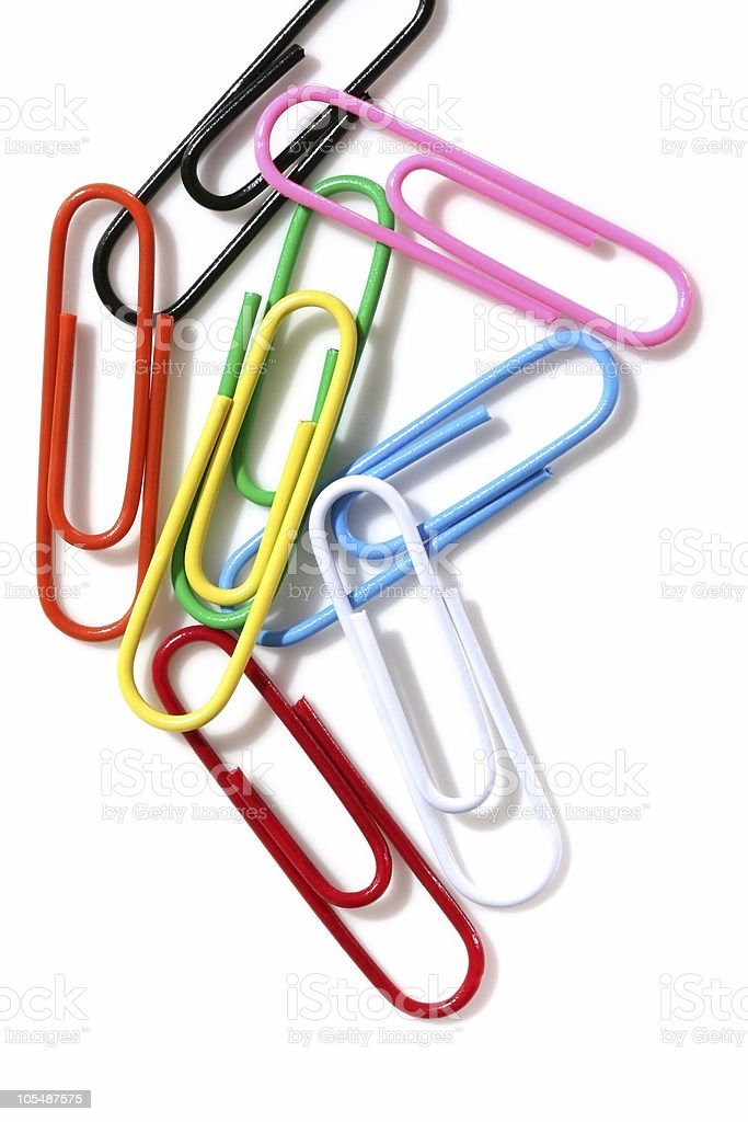 Colorful Paperclips royalty-free stock photo