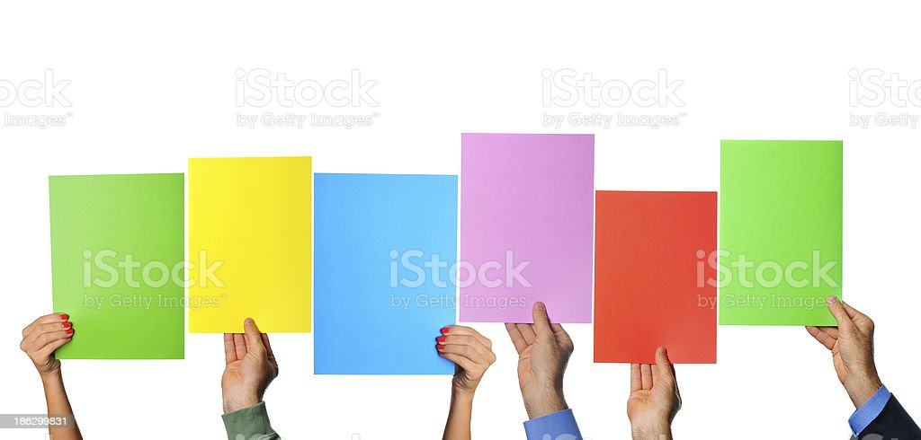 Colorful papers royalty-free stock photo