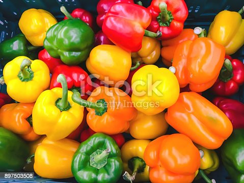 Colorful paprika background