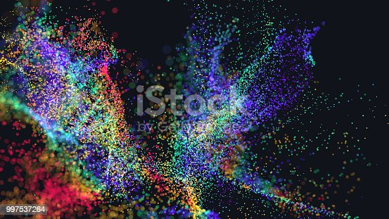 istock Colorful particle explosion 997537264