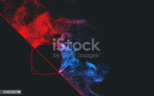 899255684istockphoto Colorful particles background 1043233788