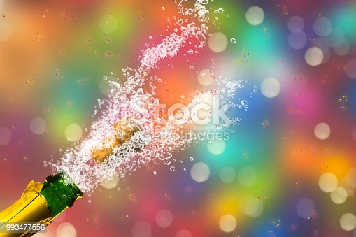 1051699126 istock photo colorful party backdrop with brisk champagne 993477556