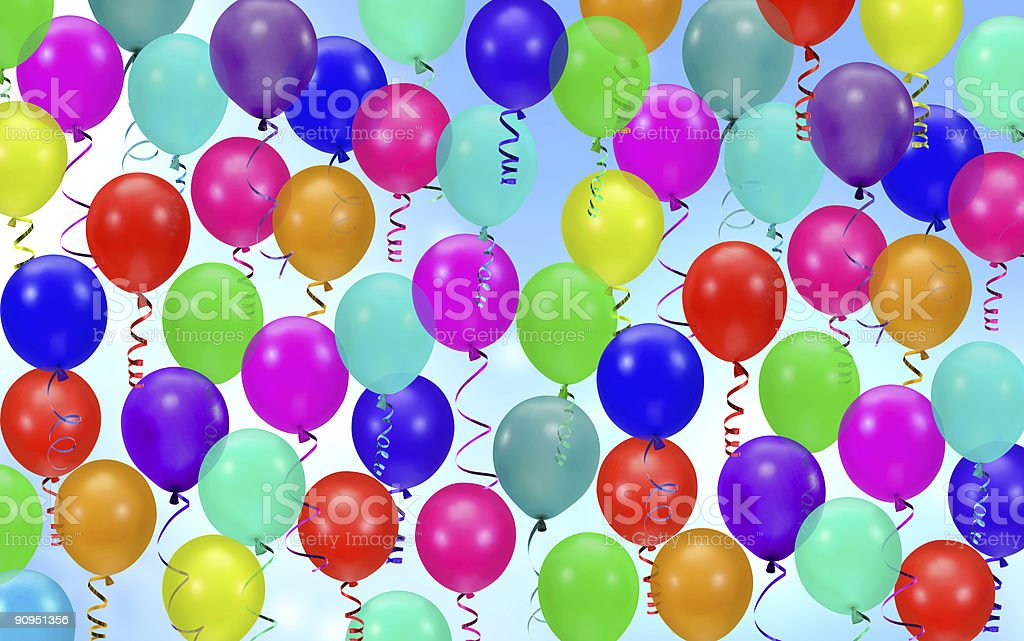 colorful party balloons background royalty-free stock photo