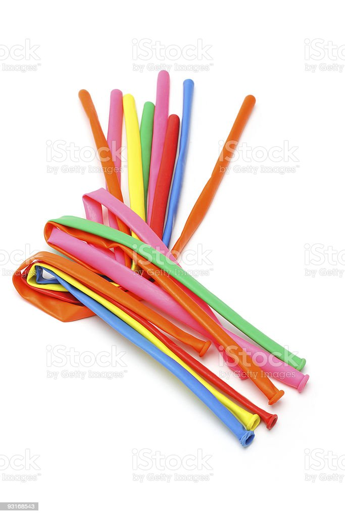 Colorful party balloons stock photo