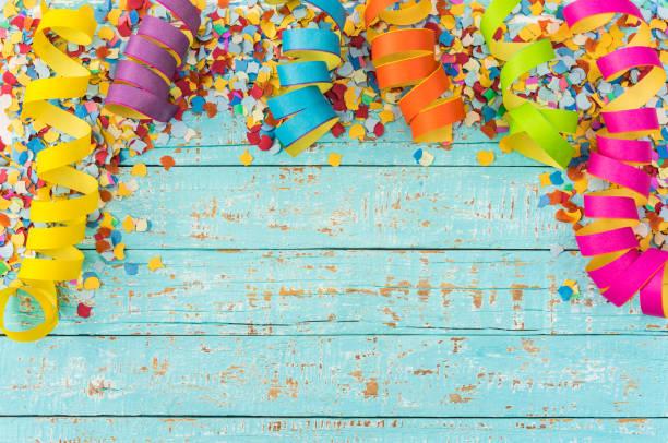 Fond de célébration fête, anniversaire ou Carnaval coloré - Photo