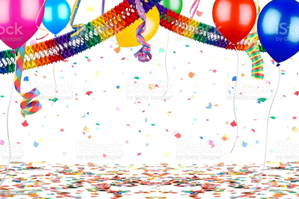 colorful party carnival birthday celebration background stock photo