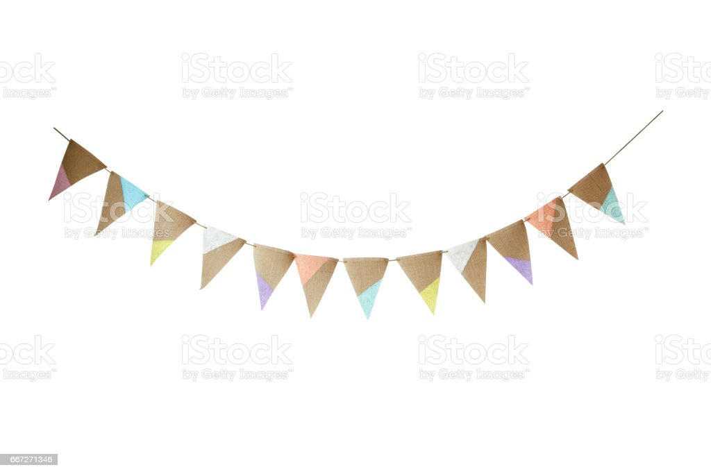 colorful party flags - fotografia de stock