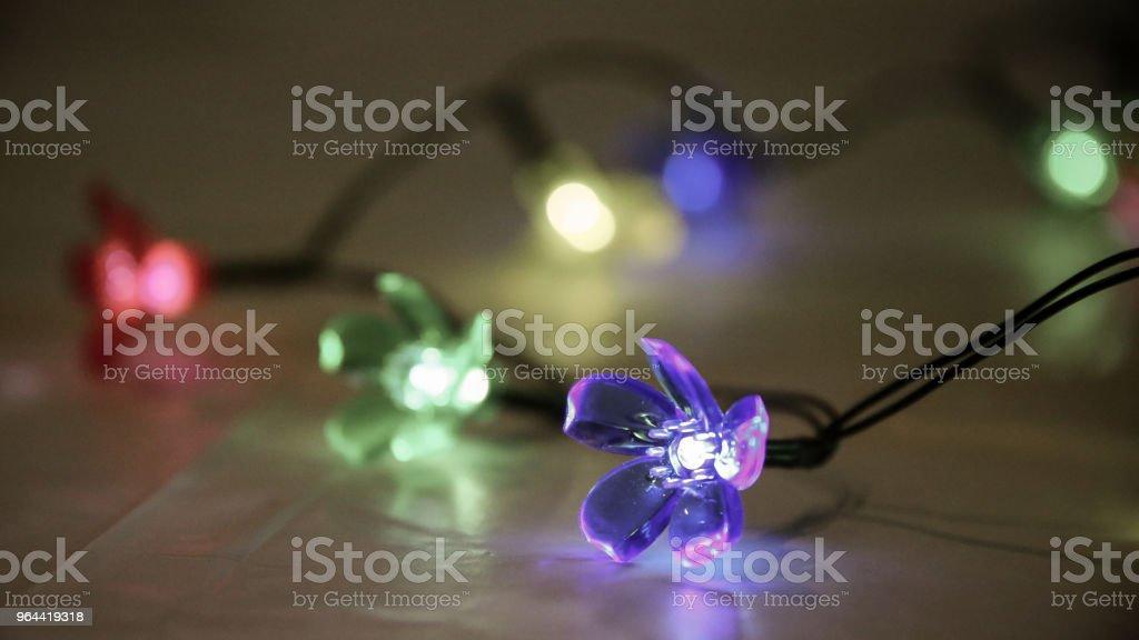 Fundo de luzes coloridas festa flor sequência - Foto de stock de Colorido royalty-free