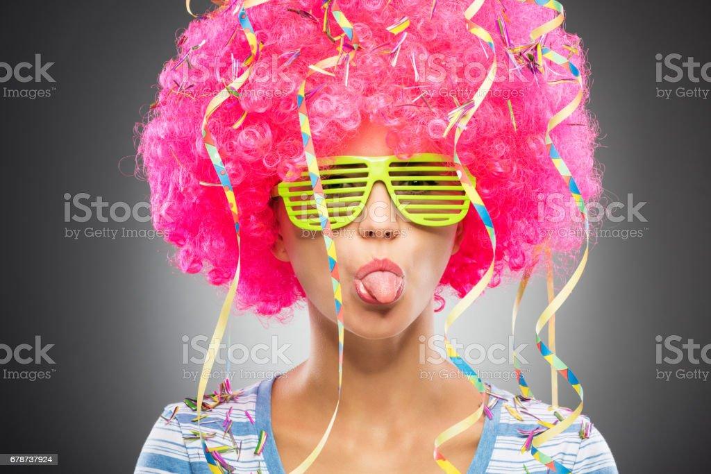 Colorful party woman photo libre de droits