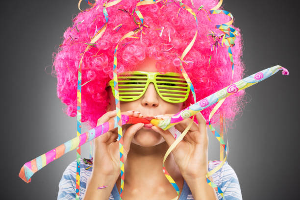 Colorful party woman - foto de stock