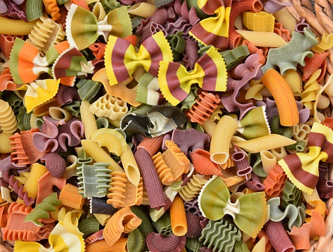 Colorful Pasta Background Stock Photo - Download Image Now