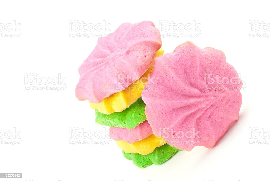 Colorful Pastel Butter Sugar Cookies royalty-free stock photo