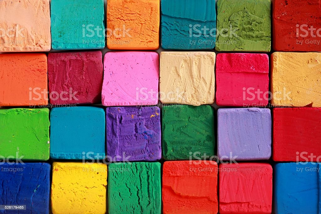 Colorful pastel chalks. Education, arts,creative, back to school background stock photo