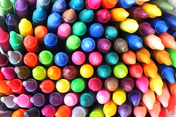 colorful pastel oil stock photo