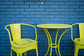 Colorful Patio Table and Chairs