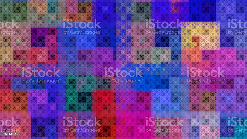 Colorful pattern fractal background stock photo
