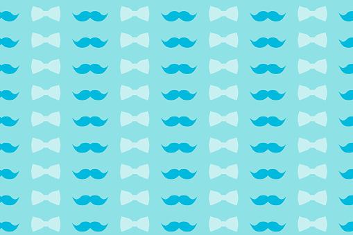 ccc70969aef9b Photo libre de droit de Motif Coloré Dans Les Tons Légèrement Bleus  Moustache Et Nœud Papillon Pour La Conception De Papier Peint Et De  Décoration banque ...