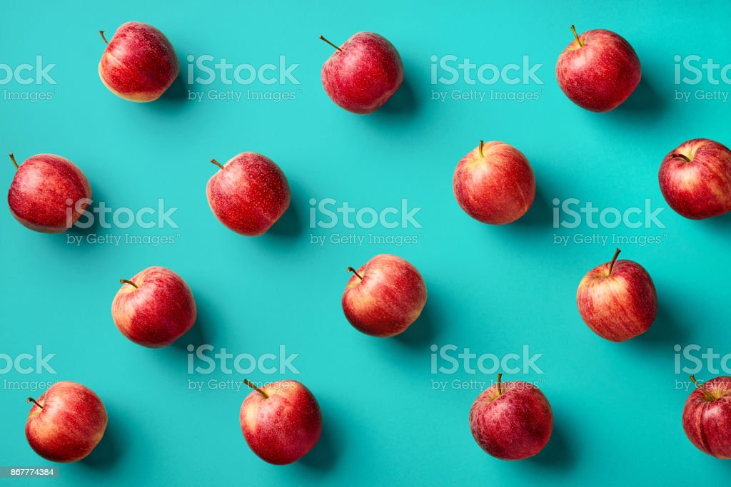 Colorful pattern of apples stock photo