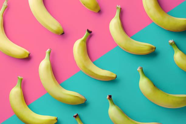 바나나의 화려한 패턴 스톡 사진