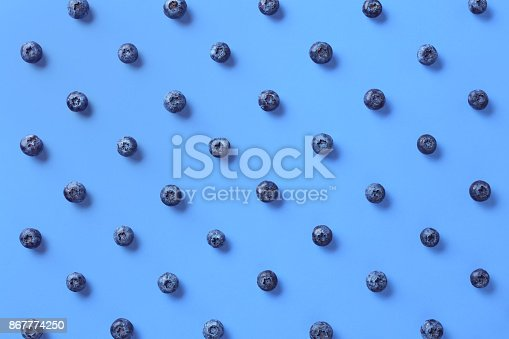 istock Colorful pattern of blueberries 867774250