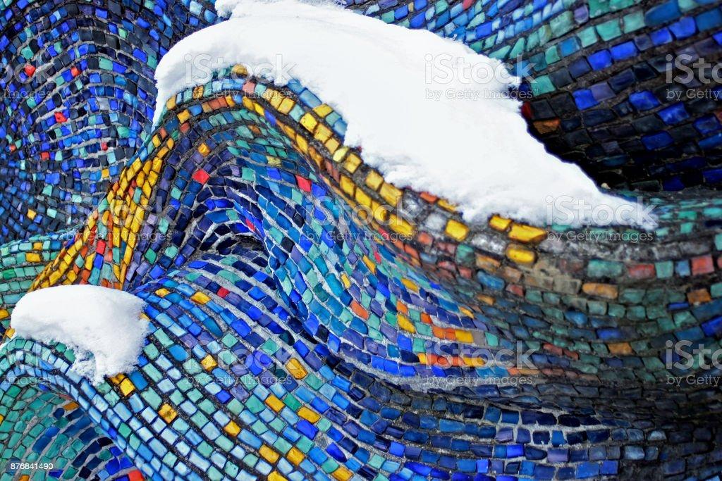 Colorful pattern of geometric mosaic. stock photo