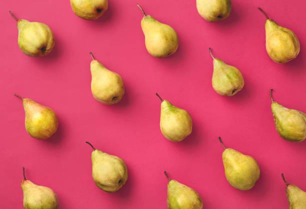 colorful pattern of pears - pera foto e immagini stock