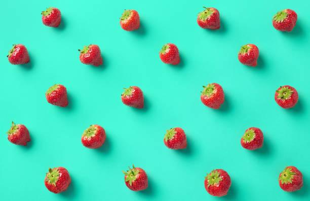 Kleurrijke patroon van aardbeien foto