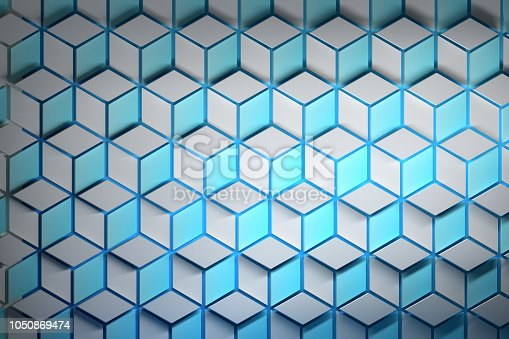 1003112136 istock photo Colorful pattern with hexagons and rhombuses 1050869474