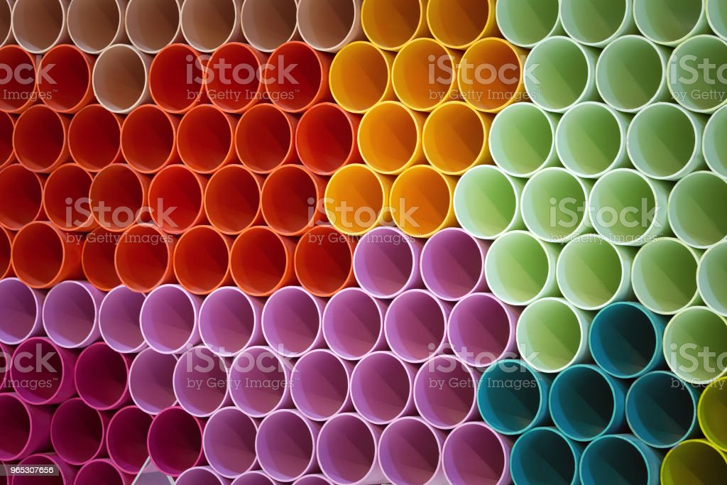 Colorful patterns of PVC pipe. zbiór zdjęć royalty-free