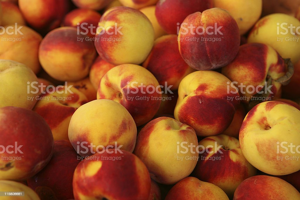 colorful peaches royalty-free stock photo