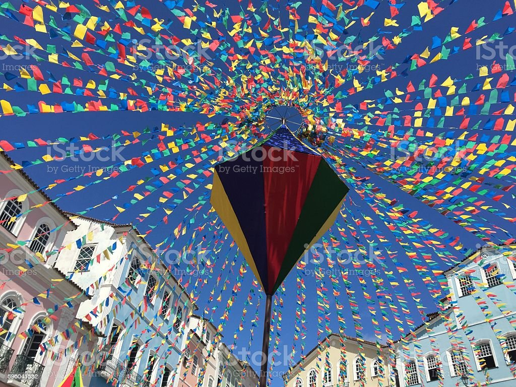 Colorful Pelourinho stock photo