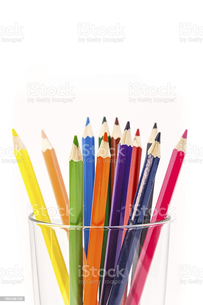 Colorful pencil royalty-free stock photo